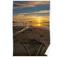 Heart shaped sunset - Tofino, British Columbia Poster