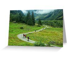 Trekking In Tirol Greeting Card