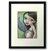 Pregnant mermaid Framed Print