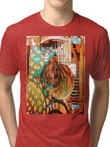 Knowledge expanding through intellectual barriers Tri-blend T-Shirt