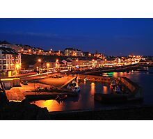 The colour of Portstewart seaside town at Night.  Photographic Print