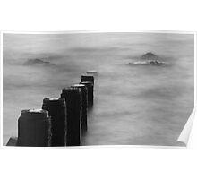 Long exposure of breakwater Poster