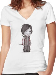 Double D Zombie Hunter Women's Fitted V-Neck T-Shirt
