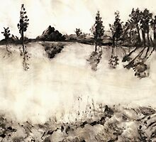 Malibu Lake Mono Print by Randy Sprout
