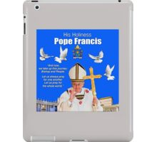 His Holiness Pope Francis 2015t-prayer card with doves/vatican 4 iPad Case/Skin