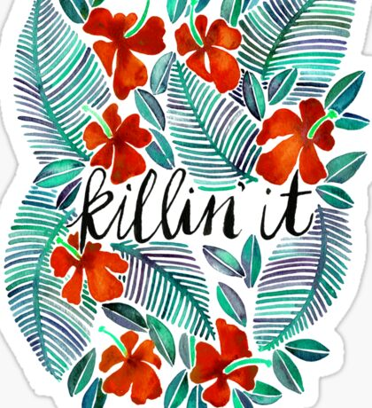 Killin' It – Tropical Red & Green Sticker