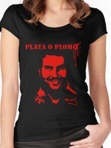 """Pablo Escobar"" Plata o Plomo Women's Fitted Scoop T-Shirt"