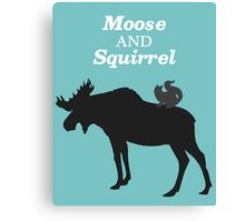 Supernatural Moose and Squirrel  Canvas Print