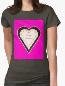 Happy Valentine Pink Beaded Heart  T-Shirt
