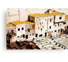 Working the Tanneries Canvas Print