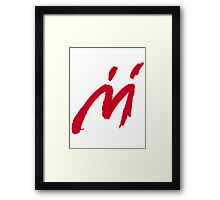 M Graffiti  Framed Print