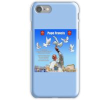His Holiness Pope Francis 2015-prayer card version 2 iPhone Case/Skin