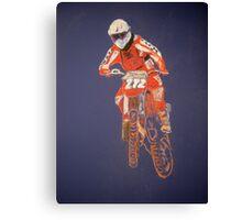 The Biker not the Bike Canvas Print