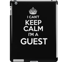 Surname or last name Guest? I can't keep calm, I'm a Guest! iPad Case/Skin