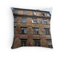 Fabulous Apartment Building Throw Pillow