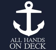 Anchor pirate all hands on deck by PIXELATED DINOSAUR ILLUSTRATIONS