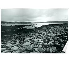 Pebbles, Island of Unst, Shetland Poster