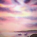 Sunset over St Agnes, Cornwall by Lynn Norris