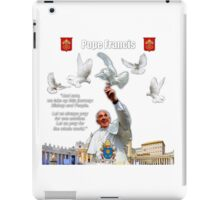 His Holiness Pope Francis 2015-prayer card with doves version 3 iPad Case/Skin