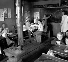 Rural Classroom~Warren County Tennessee  by © Brady-Hughes- Beasley Archives