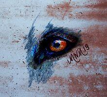 Zombie Wolf Eye by michellewolff