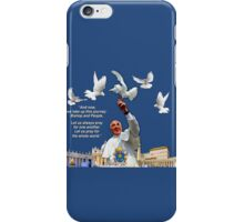 His Holiness Pope Francis 2015-prayer card no heading version 2 iPhone Case/Skin