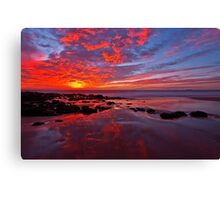 """Fiery Sunset"" Canvas Print"