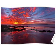 """Fiery Sunset"" Poster"