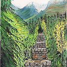 Illecillewaet Bridge, Canadian Rockies by Lynda Earley