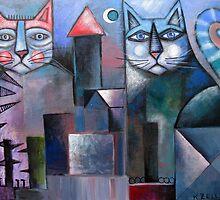Village Cats by Karin Zeller