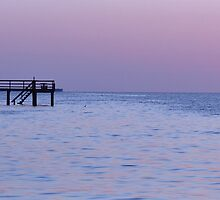Bokeelia Pier at Dusk by jaeepathak