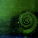 Green Shell painting (Original Sold) by Donna Huntriss