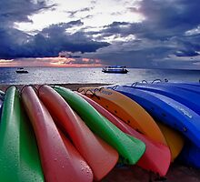 Kayaks at Tangalooma by DavidTheDave