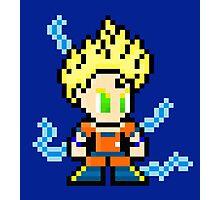Goku Super Saiyan 8-Bit Photographic Print