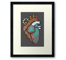 Robotic Heart Framed Print