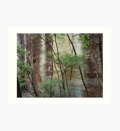 Girl in the rock - Wollemi National Park Art Print