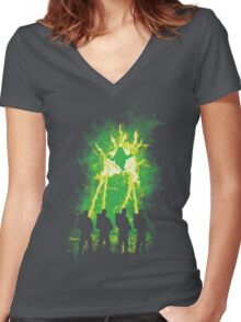 Cleaning Up Town Women's Fitted V-Neck T-Shirt