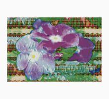 Purple periwinkle design Baby Tee