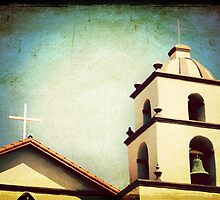 Mission San Buenaventura tower by sunrisern