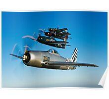 Grumman F8F Bearcats & F7F Tigercats Poster