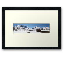 Panoramic glacier Framed Print
