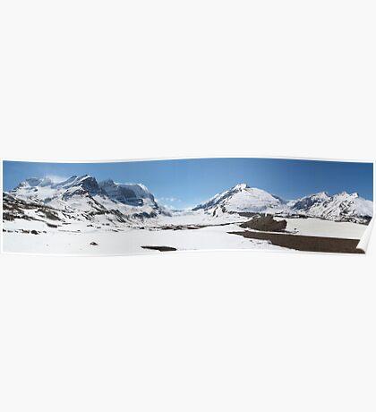 Panoramic glacier Poster