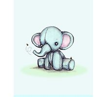 Elephant and Bee Plushie Photographic Print