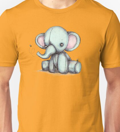 Elephant and Bee Plushie Unisex T-Shirt