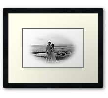 black and white Casey and Tina Framed Print