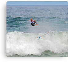 Kelly Slater gets some air at Bells Canvas Print