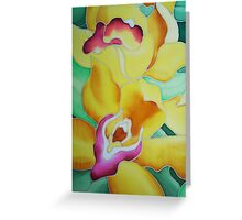 Spring Orchids - detail Greeting Card