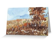 Charred Landscape Greeting Card