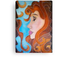 Nouveau Lady Canvas Print