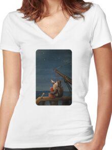 Stargazers Women's Fitted V-Neck T-Shirt